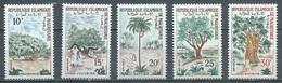 Mauritanie YT N°227/231 Arbres Neuf ** - Mauritania (1960-...)