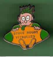 RUGBY *** ECOLE DE VITROLLES *** Jaune, Non Orange *** A060 - Rugby
