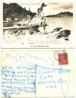 Canada 1950 Exaggeration Postcard Fish Are Big Here, Callander Ontario To U.S. - Ontario