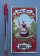 Textile 044, Etiquette Chromo Litho, L Danel & Lille, SM&Cie Fil A La Fileuse Dorée - Labels