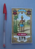 Textile 045, Etiquette Chromo Litho, Lille, AFD, Fil De Lin à L'Indien - Labels