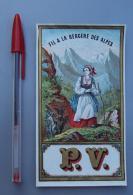 Textile 050, Etiquette Chromo Litho, Imp Lefebvre Ducrocq, PV Fil A La Bergère Des Alpes - Labels