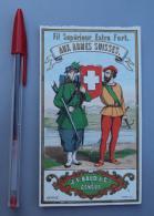 Textile 058, Etiquette Chromo Litho, L Danel & Lille, JE Baud & Cie à Geneve Suisse, Fil Aux Armes Suisses - Labels