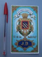 Textile 086, Etiquette Chromo Litho, L Danel & Lille, JD, Fil De Lin Aux Armes D'Abbeville - Labels