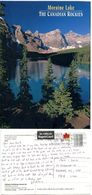 Canada 2004 Postcard Moraine Lake Canadian Rockies, Scott 2009 Maple Leaf Coil - Alberta