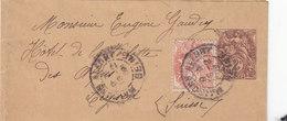 Entier Postal Pour Journeaux Oblitéré Avec Repiquage -  Type Blanc N°108BJ5- Date Au Dos N°843 - Bandes Pour Journaux