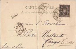 France & Marcofilia, Aix-les-Bains, Le Petit Port, Cannes, Indre-et-Loire, Poste Restante 1900  (152) - France