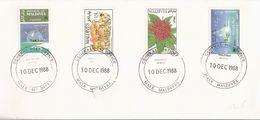 H345 - MALDIVES - Série Flore Et Environnement Sur Lettre De 1988 - Maldives (1965-...)