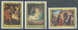 Niger Poste Aérienne YT N°273/275 Noel 1976 Tableaux Religieux Neuf ** - Niger (1960-...)