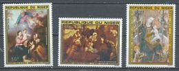 Niger Poste Aérienne YT N°257/259 Noel 1975 Tableaux Neuf ** - Niger (1960-...)