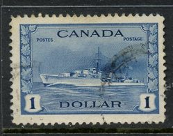 Canada 1942 $1 Destroyer Issue #262 - Used Stamps