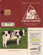 TARJETA TELEFONICA DE ESPAÑA USADA. 12.95 (414). CAFÉ DE COLOMBIA. - Spain