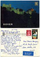 Great Britain 1984 Postcard Dover Castle, Winchcombe To U.S., British & U.S. Stamps - Dover