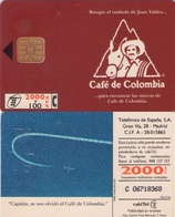 TARJETA TELEFONICA DE ESPAÑA USADA. 05.95 (415). CAFÉ DE COLOMBIA. - Spain