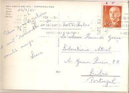 Spain & Marcofilia, Recuerdo De Torremolinos, Costa Del Sol, Lisboa 1965 (934) - 1961-70 Covers