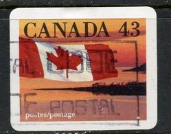 Canada 1992  43 Cent Quick Stick Flag Issue  #1389 - 1952-.... Reign Of Elizabeth II
