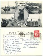 Great Britain 1957 Postcard Small Scotch From Aberdeen - Scottish Terrier Dog, To U.S. - Aberdeenshire