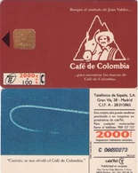 TARJETA TELEFONICA DE ESPAÑA USADA. 05.95 (417). CAFÉ DE COLOMBIA (Capitán P Corta). - Spain
