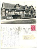 Great Britain 1963 RPPC Stratford-upon-Avon, London To U.S., 8p. QEII Stamp - Stratford Upon Avon