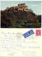 Great Britain 1962 Postcard Edinburgh Castle, To U.S., 8p QEII Stamp - Midlothian/ Edinburgh