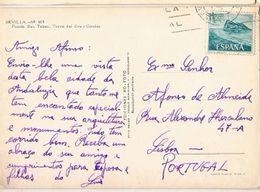 Spain & Marcofilia, Sevilla, Puente De San Telmo Y Torre Del Oro Y Giralda, Lisboa Portugal (185) - 1961-70 Covers