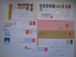 """Lot De 9  Lettres Dont 2 Lr  Avec Des Affranchissements  Intéréssants."""" Lamouche """".......à Voir - 1961-...."""