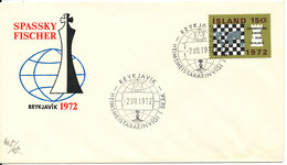 Iceland FDC 2-7-1972 World Chess Championship Reykjavik With Cachet - FDC
