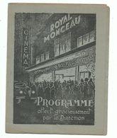 Programme De Cinéma Cinéma Royal Monceau Paris - 1936 - Publicité Bas - Programmes
