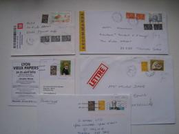 """Lot De 5  Lettres Dont 2 Lr  Avec Des Affranchissements  Intéréssants."""" Lamouche """".......à Voir - 1961-...."""