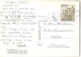 Spain & Marcofilia, Pamplona Vista General Desde Monte Igueldo, Setúbal Portugal 1971 (70) - 1971-80 Covers
