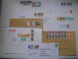 """Lot De 10  Lettres   Avec Des Affranchissements  Intéréssants."""" Luquet  """".......à Voir - 1961-...."""