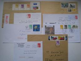 """Lot De 8  Lettres   Avec Des Affranchissements  Intéréssants."""" Luquet  """".......à Voir - 1961-...."""