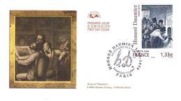 FRANCE 4305 FDC Premier Jour Tableau Honoré DAUMIER : Un Guichet De Théatre (gravure) - 2000-2009