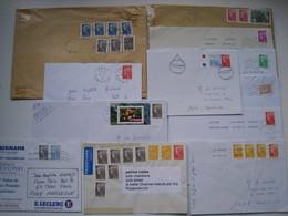 """Lot De 12  Lettres + 1 Document   Avec Des Affranchissements  Intéréssants."""" Beaujard """".......à Voir - 1961-...."""