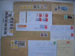 """Lot De 12  Lettres  Avec Des Affranchissements  Intéréssants."""" Beaujard """".......à Voir - 1961-...."""