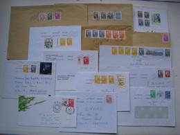 """Lot De 14  Lettres  Avec Des Affranchissements  Intéréssants."""" Beaujard """".......à Voir - 1961-...."""