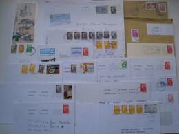 """Lot De 17  Lettres  Avec Des Affranchissements  Intéréssants."""" Beaujard """".......à Voir - 1961-...."""