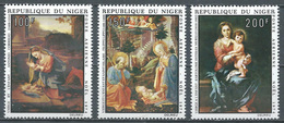 Niger Poste Aérienne YT N°242/244 Noel 1974 Tableaux Neuf ** - Niger (1960-...)