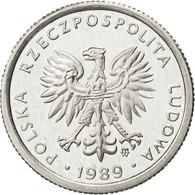 Pologne, Zloty, 1989, Warsaw, FDC, Aluminium, KM:49.3 - Poland