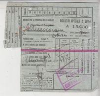 Biglietto Ticket Speciale Società Ferrovia Delle Dolomiti Cortina D'ampezzo 1942 - Trenes