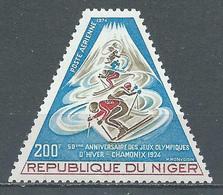 Niger Poste Aérienne YT N°226 Jeux Olympiques D'hiver Chamonix 1968 Neuf ** - Niger (1960-...)