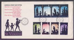 St. VINCENT 1974 FDC - CHRISTMAS, Complete Set On First Day Cover - St.Vincent (...-1979)