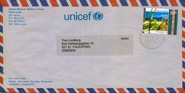 2003 , TIMOR - LESTE , SOBRE DE LA UNICEF EN TIMOR CIRCULADO ENTRE DILI Y FALKÖPING - East Timor