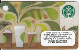 IRELAND - How To Make Coffee, Starbucks Mini Card, CN : 6104, Unused - Gift Cards