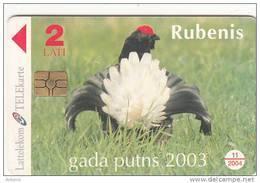 LATVIA - Bird Of The Year 2003, Chip GEM3.3, Exp.date 11/04, Used - Latvia