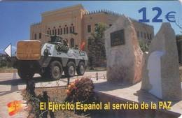 TARJETA TELEFONICA DE ESPAÑA USADA. 07.03 - TIRADA 50200 (425). EL EJERCITO ESPAÑOL AL SERVICIO DE LA PAZ. - Spain