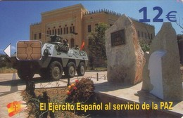TARJETA TELEFONICA DE ESPAÑA USADA. 06.04 - TIRADA 50201 (426). EL EJERCITO ESPAÑOL AL SERVICIO DE LA PAZ. - Armada