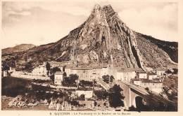 04 - SISTERON - Le Faubourg Et Le Rocher De La Baune - Sisteron
