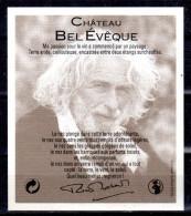 THEME PERSONNAGES étiquette De Vin CHATEAU BEL EVEQUE Gris Bleu / ARTISTE - PIERRE RICHARD - Humour