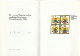 1990 SPECIAL CHRISTMAS FDC  Card Multi Stamps GERMANY Cover - Christmas